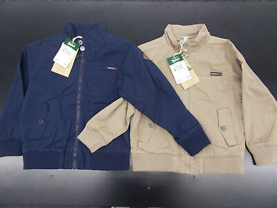 Boys Woolrich $28 Navy or Tan Canvas Jacket w/ Plaid Lining Size 4 - 14/16