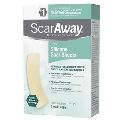 ScarAway Flex Long Silicone Scar Treatment Sheets  6 ea (Pack of 2)