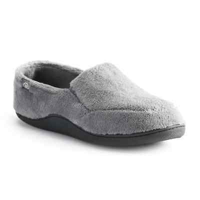 46a8f874c8b6 ISOTONER Men s Sz M Microterry Memory Foam Indoor Outdoor Slip-On Slippers