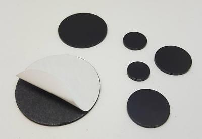 4 x Self Adhesive Rubber Magnetic Magnet Disc Dots Craft 1.5mm thick Pick Size
