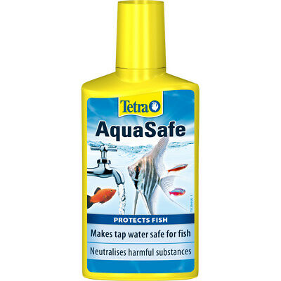 Tetra AquaSafe Tap Water Conditioner Dechlorinator Aqua Safe Chlorine Fish 100ml