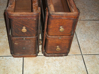 Singer Antique Treadle Sewing Machine Cabinet Drawers 4 Drawers w/ frames 1909