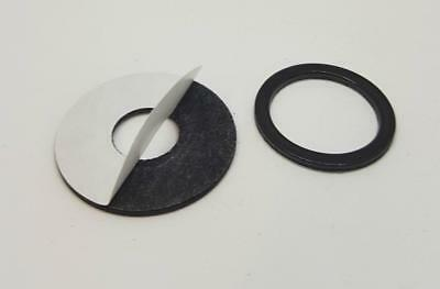 4 x Self Adhesive Rubber Magnetic Washers 1.5mm thick Pick Size upto 30mm dia