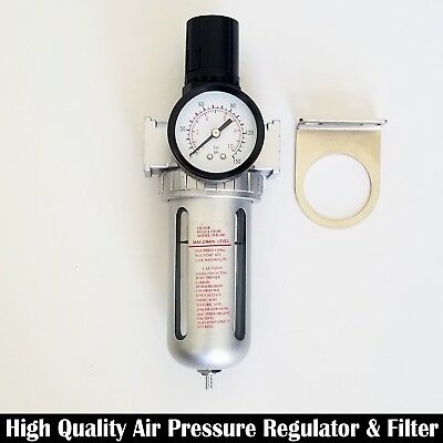 "3/8"" Air Pressure Regulator & Filter Combo Single Unit Compressor"