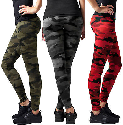 Urban Classics Damen Jeggings Camo Leggins Hose Leggings Treggings TB1331 XS- XL