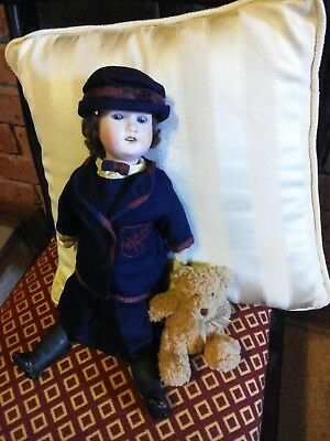 "ANTIQUE DOLL:16"" WALTHER & SOHN (1921) Bisque;Composition;Glass Sleep Eyes;Teeth"