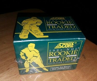1991 Score ROOKIE & TRADED Hockey SET 110 Cards Eric Lindros FACTORY  SEALED