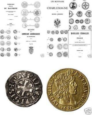 DVD 300 rare books on coins of France medals jetons royal feodal Napoleon