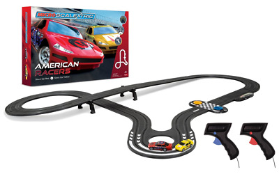 Scalextric G1098 American Racers Car Micro Scalextric Set 1:64 Scale