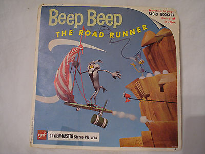 View-Master Beep Beep the Road Runner 3  Reel Packet  GAF Sawyers 1960's   L5
