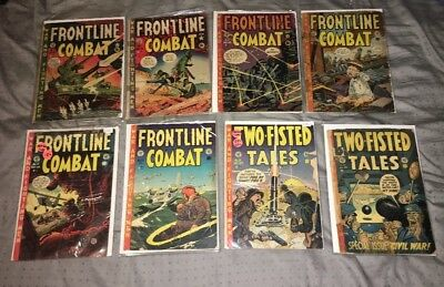 Ec Comics Frontline Combat 2 3 5 10 11 Two Fisted Tales 29 31 Golden Age Lot War