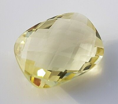 WaterfallGems Lemon Citrine Checkered Cushion, 16x12mm, 8.48ct