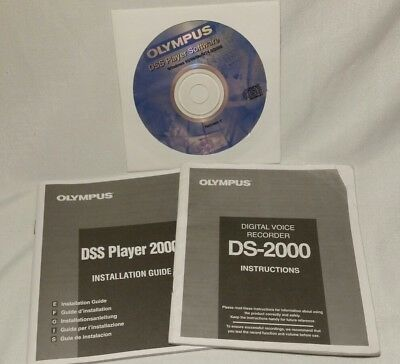 Olympus DSS Player Software DS-2000 - Windows & MAC - Release 2 - FREE SHIPPING