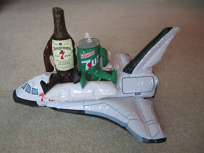 1981 Seagrams 7 & 7 Inflatable Space Shuttle - Advertising 7up 7 Up - Whiskey