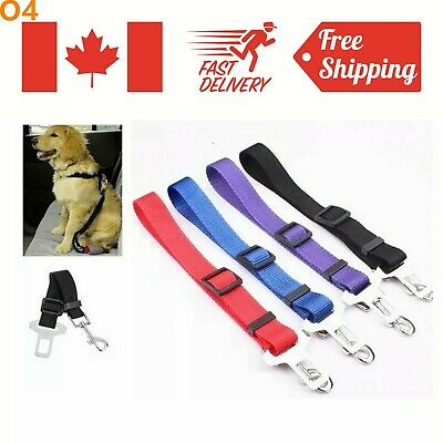 Dog Cat Pet Seat Belt Strap Buckle Safety for Harnesses Leash Adjustable Puppy