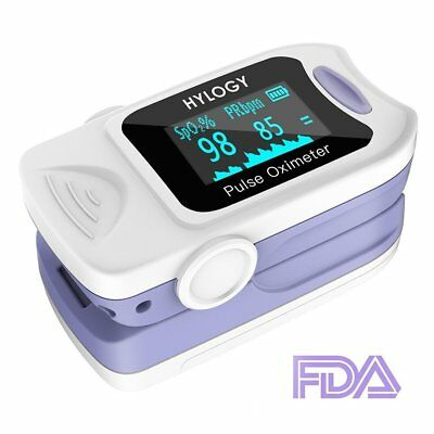 Pulse Oximeter, Hylogy Blood Oxygen Saturation Monitor with Carrying Bag, Batter