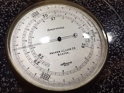 Barometer Altimeter Andrew J. Lloyd Co Boston Compensated c. 1910