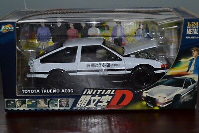 Initial D JADA TOYS 1/24  WHITE TOYOTA TRUENO AE86 - NEW Sealed in Box