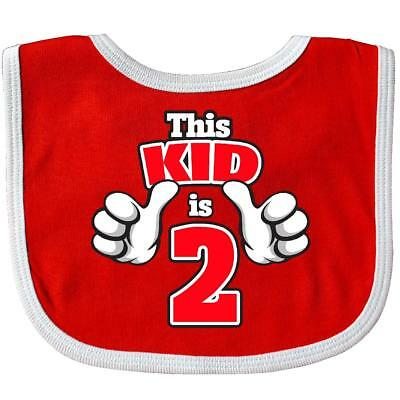 Inktastic This Kid Is 2 Baby Bib Birthday Two 2nd Second Gift Clothing Infant
