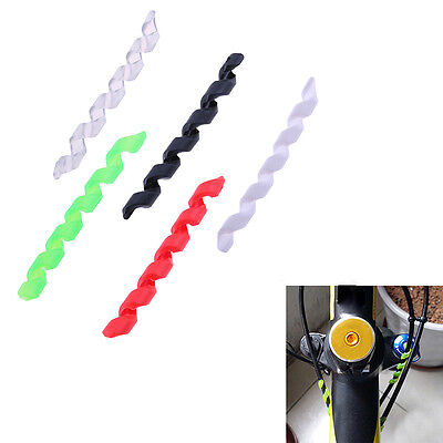 5Pcs Bicycle Brake Cable Housing Protector Line Spiral Sleeve Bike Frame G Smtp