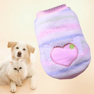 XXS-L Winter Pet Dog Coat Jacket Clothes Puppy Cat Sweater Clothing Appare Uskt
