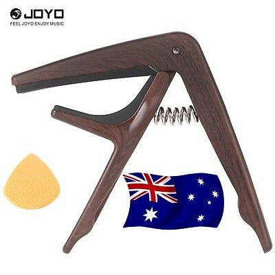 Joyo JCP01 Capo for Steel String Acoustic or Electric Guitar-Wood Look - New
