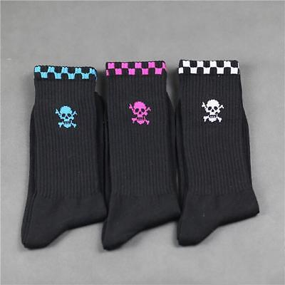 1/5 Pairs Men's Skull Print Cotton Blend Long Socks Sport Socks Winter Warm