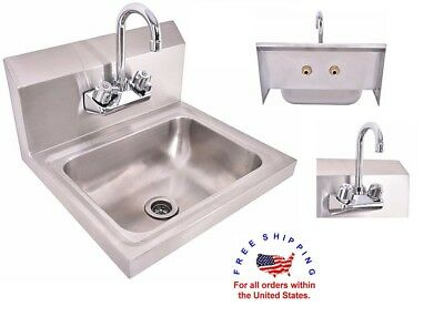 Commercial Stainless Steel Sink Wash Basin Tub Laundry Kitchen Utility Mud NEW