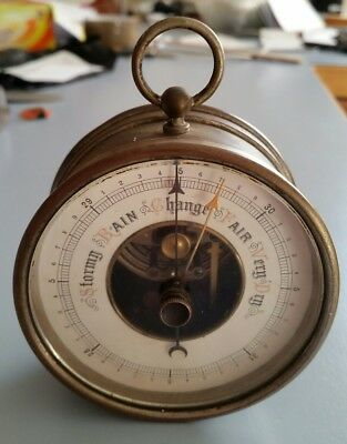 Antique Rare Barometer. Pre 1870's Made in Germany. Fully Set & Working. Unusual