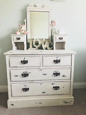 Victorian Chest of Drawers and Mirror / Dressing Table