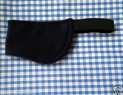Riding Hat Ear Muffs & Neck Warmer - 2 Sizes - Black And Navy
