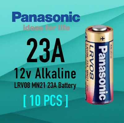 Genuine 10x Panasonic A23 Alkaline Remote Batteries 12V LRV08 MN21 23A Battery