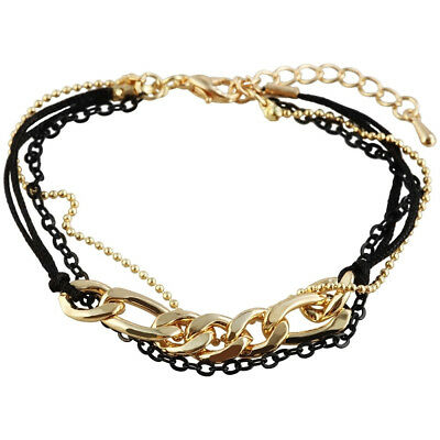 metal and textile in gold color bracelet