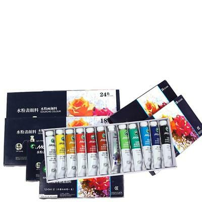 12/18/24 Colors  Acrylic Paint Set 5 ml Tubes Artist Draw Painting Pigment Uskt