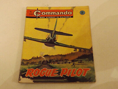 Commando War Comic Number 219!,1966 Issue,good For Age,52 Years Old,very Rare.