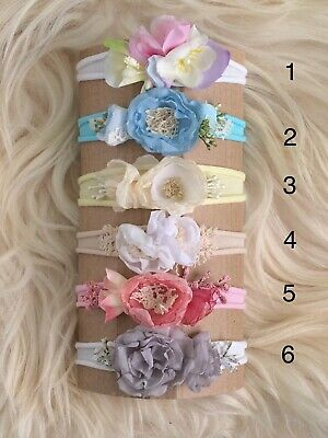 Choose your OWN Bundle (Set of 3) Newborn Baby Tieback Headband Photo Prop