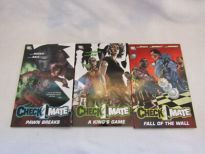 Checkmate Volumes 1-3 - DC Greg Rucka - New Graphic Novel