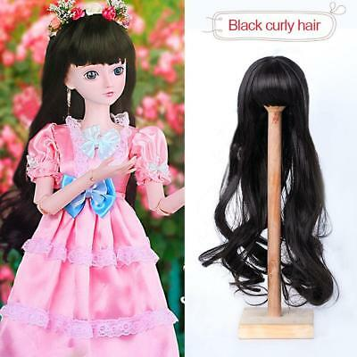 DIY Doll Wig Curly Wavy High-temperature Wire Hair for 1/3 SD SD HO Zccj