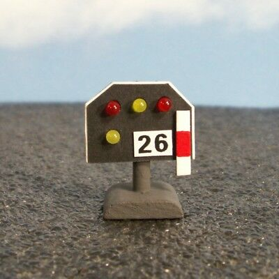 W27 - 1 Gauge - Track Blocking Signal Down with LEDs Red / Yellow Light