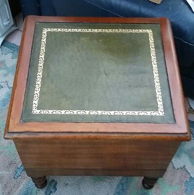 Attractive Antique Victorian Mahogany Commode Potty Chamber Pot Bed Steps