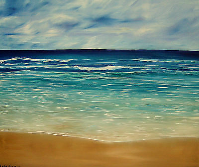 The Sand And The Tide-An original oil painting by Lisa Aerts