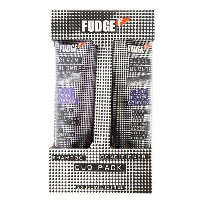 Fudge Clean Blonde Violet Toning Shampoo & Conditioner Duo 300ml Removes Yellow