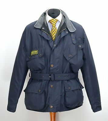 Mens Barbour International Jacket Navy A12 Size C46 / 117CM