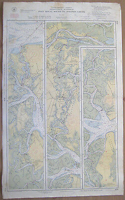 "Vtg 1951 C&GS Nautical CHART #839 INTRACOASTAL WATERWAY SC 24"" x 39"""