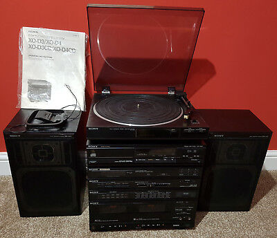 Sony Xo-D3 Compact Hi-Fi Stereo System, Turntable, Cd, Stereo Receiver