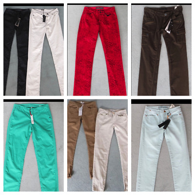 25 x BNWT IKKS Ladies Jeans Trousers Mixed Job Lot / Wholesale French Designer