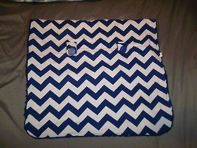 Carseat Canopy Jagger Blue White Chevron Minky Car Seat Cover