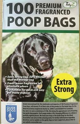 100 STRONG DOGGY BAGS Scented Pet Pooper  Bag Dog Cat Poo Waste Toilet Poop