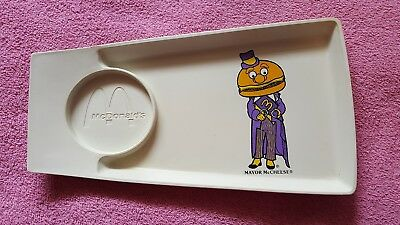 Vintage McDonald's Mayor McCheese Plastic Happy Meal Serving Tray Plate