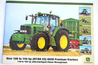 Original JOHN DEERE Model 6030 Series Tractors Promotion Brochure English Text